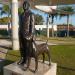 Памятник Дональду Уиллсу Дугласу и его собаке Wunderbar